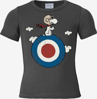LOGOSHIRT T-Shirt 'Snoopy' in blau / dunkelgrau / rot / weiß, Produktansicht
