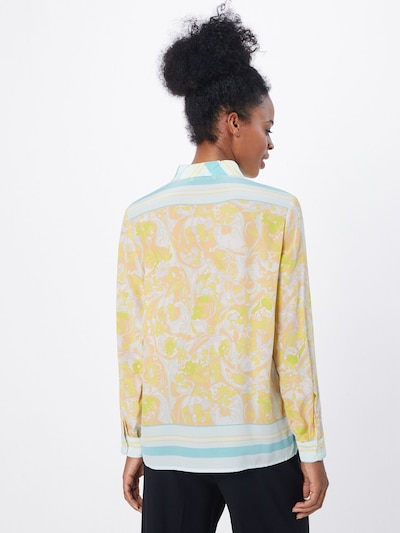 Samsoe Samsoe Blouse 'Alessandra' in de kleur Geel / Wit: Achteraanzicht