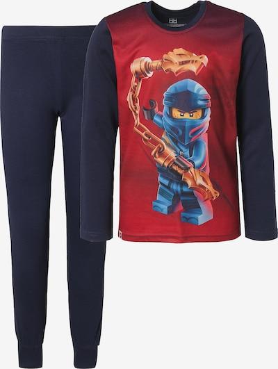 LEGO Schlafanzug in kobaltblau / mischfarben / rotmeliert, Produktansicht