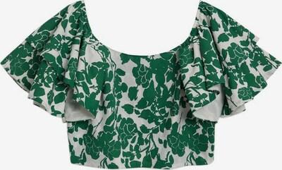 MANGO Bluse 'Gloria' in grün / weiß, Produktansicht