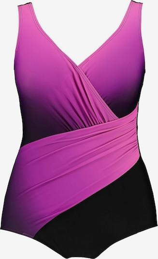 Ulla Popken Badpak in de kleur Lila / Zwart, Productweergave