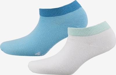 TOM TAILOR 2er Pack  Sneakersocken in blau / weiß, Produktansicht