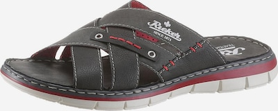 RIEKER Mule in anthracite / red, Item view