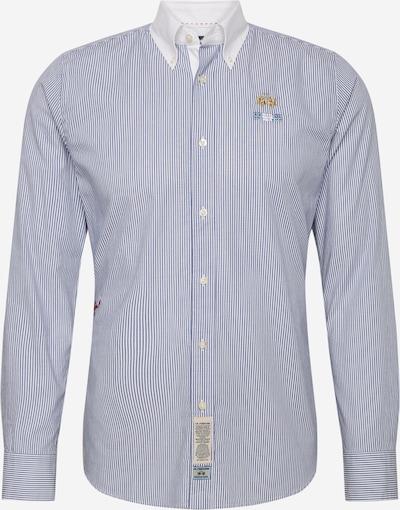 La Martina Koszula 'QUAARIGENIO' w kolorze niebieski / białym: Widok z przodu