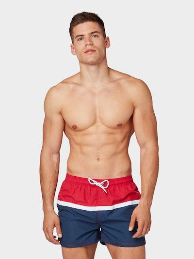 TOM TAILOR Plavecké šortky - námořnická modř / ohnivá červená / bílá, Produkt