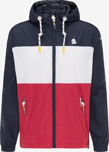 Schmuddelwedda Tussenjas in de kleur Marine / Rood / Wit, Productweergave