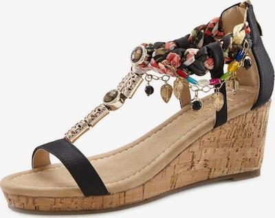 LASCANA Sandalette in mischfarben / schwarz, Produktansicht