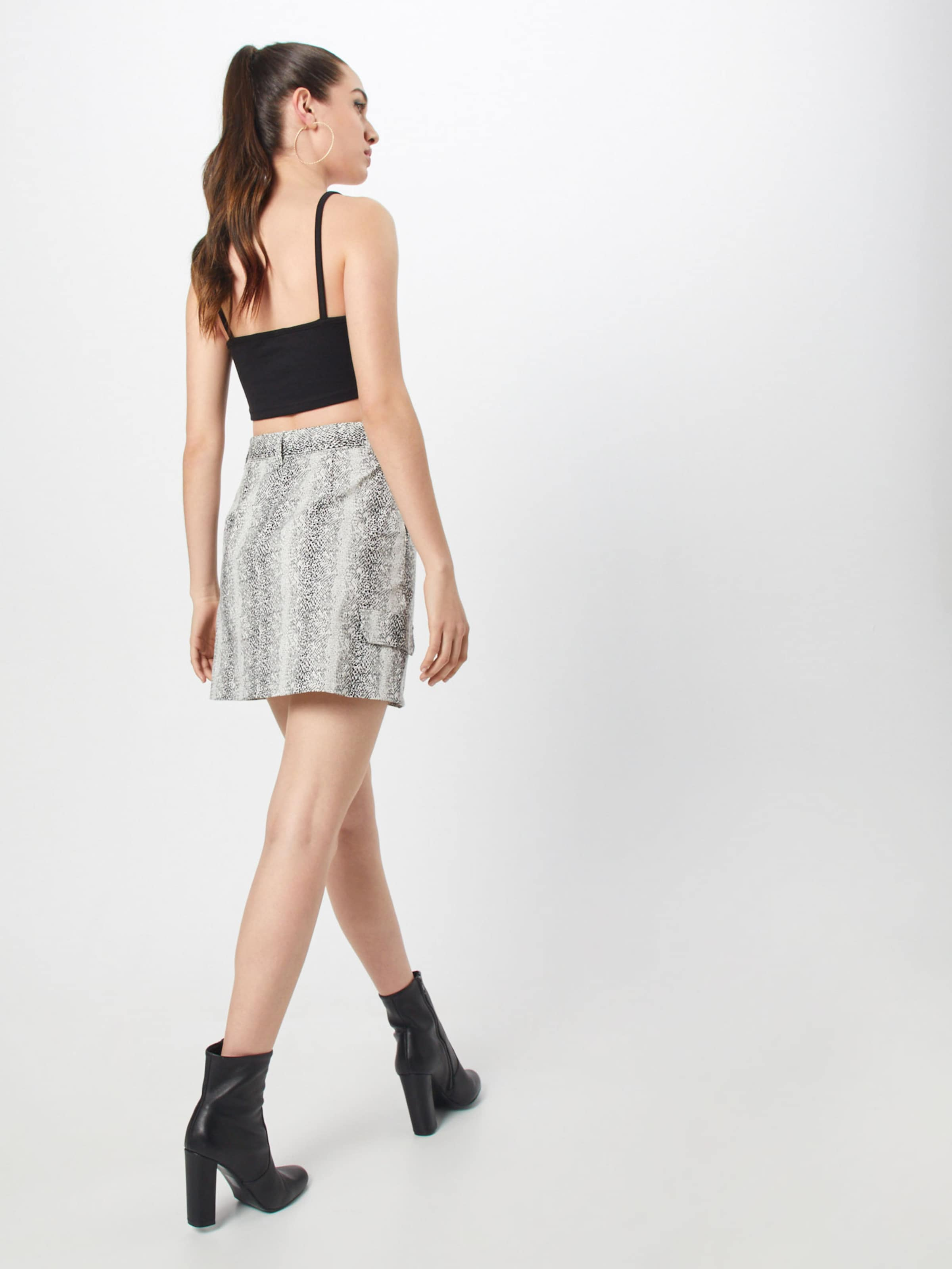 Skirt In Missguided Rock 'snake Weiß White' Print Utility Nv8mOnwy0P