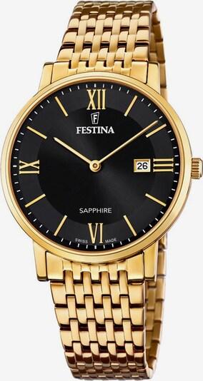 FESTINA Festina Schweizer Uhr »Festina Swiss Made, F20020/3« in gold / schwarz, Produktansicht