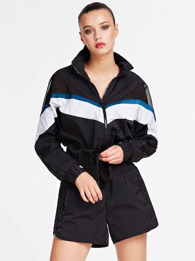 GUESS Jumpsuit in blau / schwarz / weiß, Modelansicht