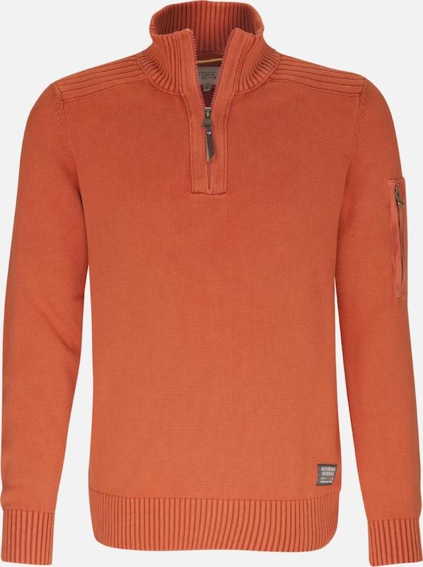 CAMEL ACTIVE Pullover in Orangerot  Große Preissenkung