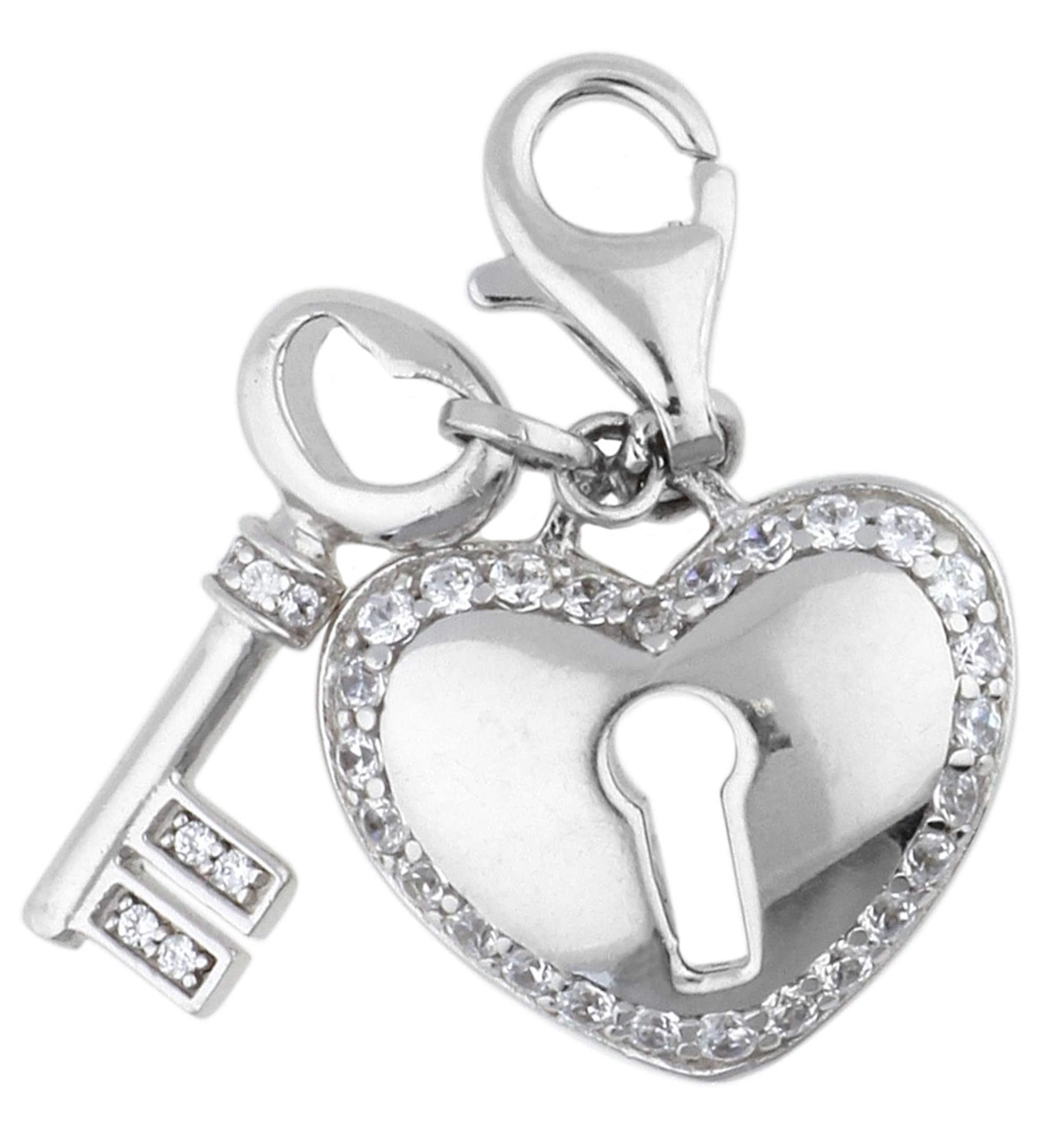 ESPRIT Charm 'Locked Heart' mit Steinbesatz Spielraum Beste Preise Visa-Zahlung Günstig Online Günstig Kaufen Gut Verkaufen 9oQ7rv9E