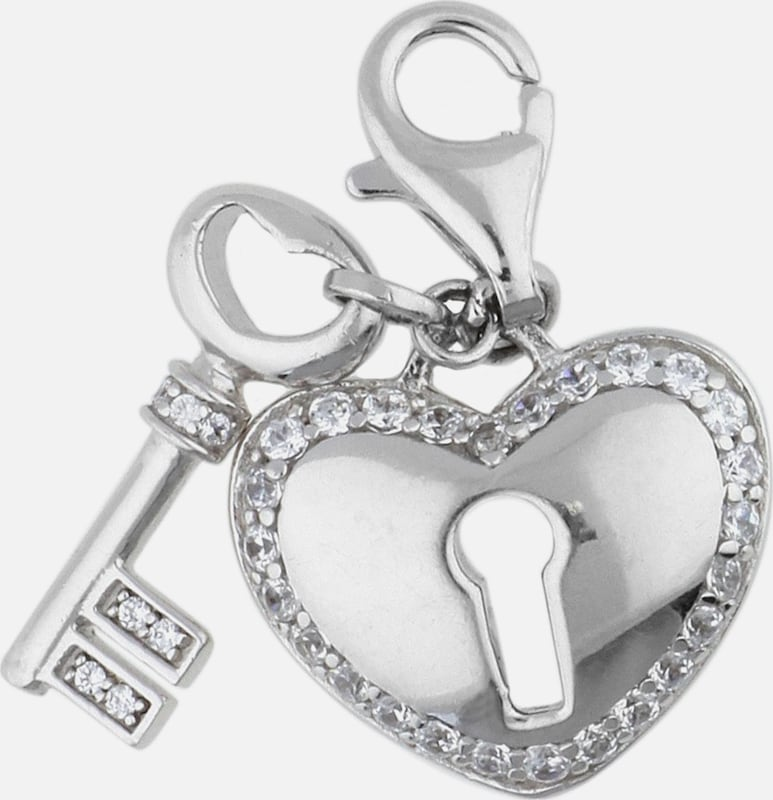 ESPRIT Charm 'Locked Heart' mit Steinbesatz