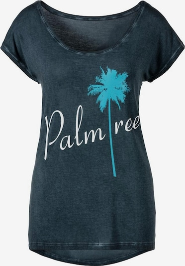 BEACH TIME Shirt in navy: Frontalansicht
