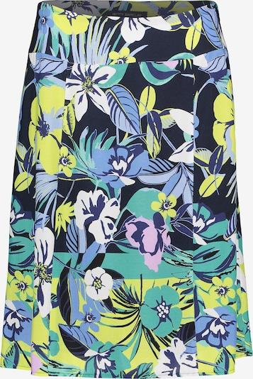 Betty Barclay Bahnenrock mit Aufdruck in dunkelblau / grün, Produktansicht