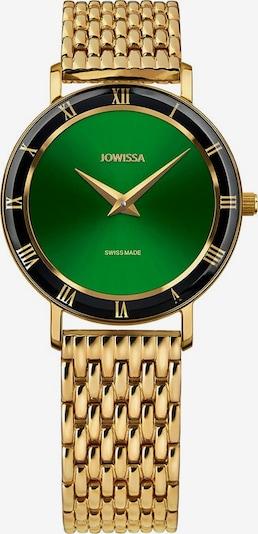 JOWISSA Quarzuhr 'Roma' Swiss Ladies Watch in gold / grün, Produktansicht
