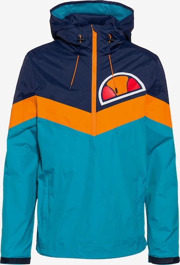 ELLESSE Windbreaker 'Shelby' in aqua / dunkelblau / orange: Frontalansicht