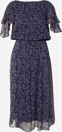 Suknelė 'ROMANTIE' iš sessun , spalva - tamsiai mėlyna jūros spalva / tamsiai mėlyna / oranžinė-raudona, Prekių apžvalga