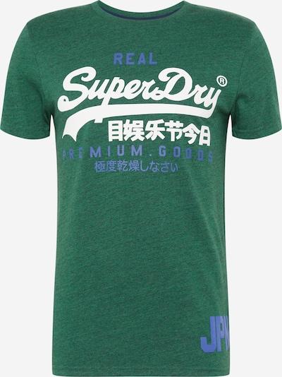 Superdry Shirt in de kleur Blauw / Groen gemêleerd / Wit, Productweergave