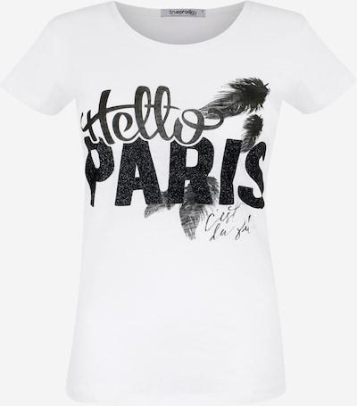 trueprodigy T-Shirt 'Hello Paris' in schwarz / weiß, Produktansicht