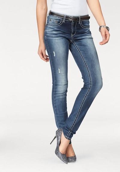 ARIZONA Skinny-fit-Jeans in blue denim, Modelansicht