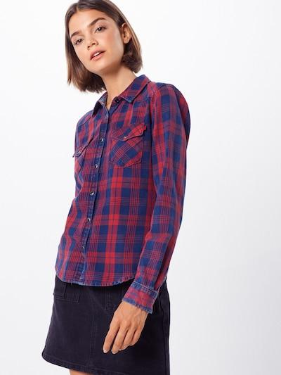 LTB Bluse 'LONAYA' in blau / rot, Modelansicht