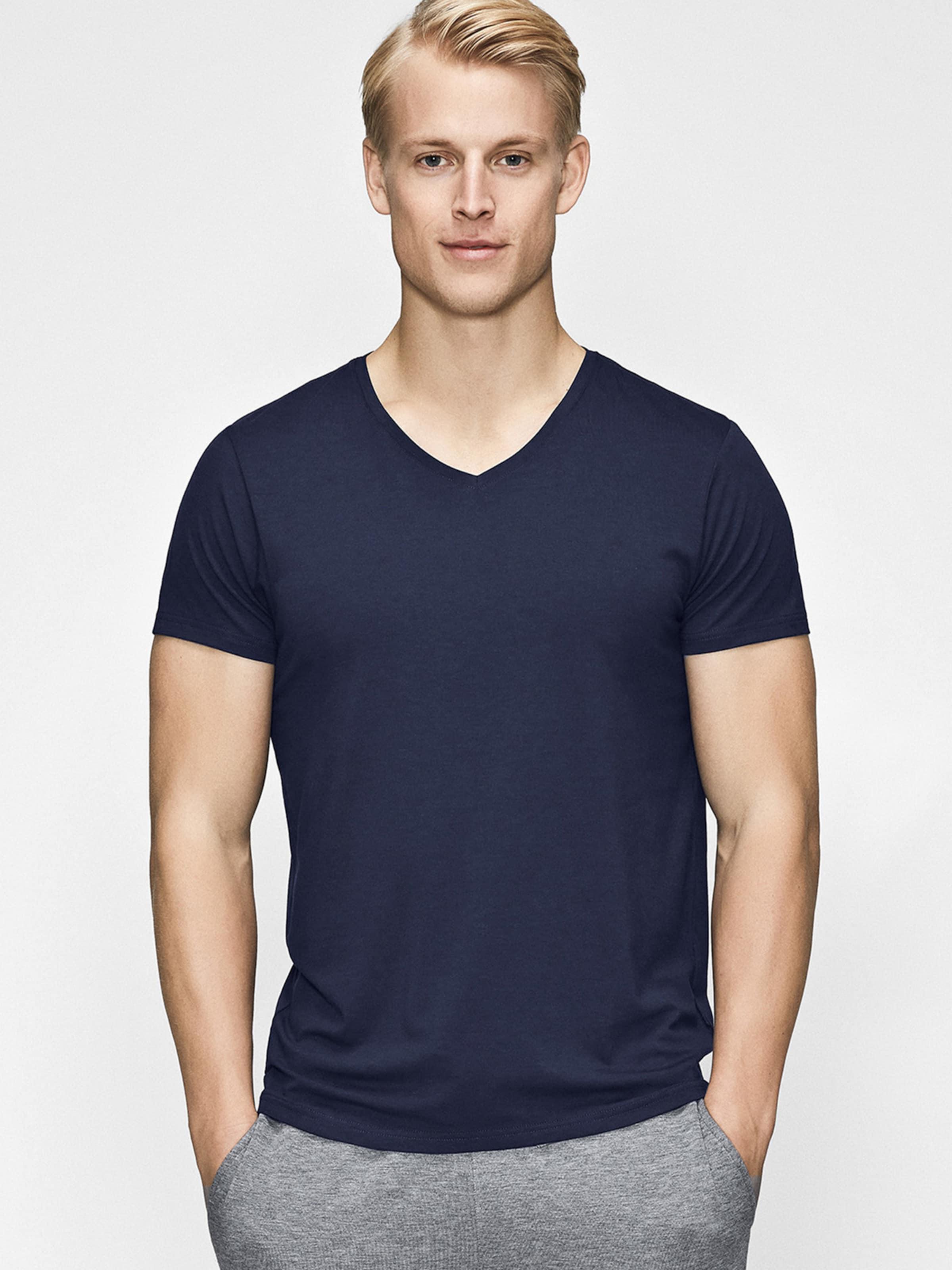 JBS OF DENMARK Unterhemd in dunkelblau Unifarben 8745