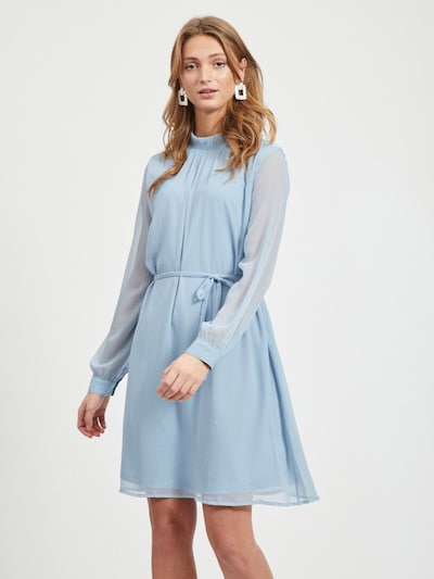 VILA Minikleid 'VIRIVAN L/S DRESS' in rauchblau, Modelansicht