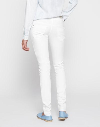 LTB Stretchige Skinny Jeans 'Molly' in weiß: Rückansicht