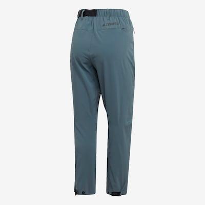 ADIDAS PERFORMANCE Sporthose in rauchblau: Frontalansicht