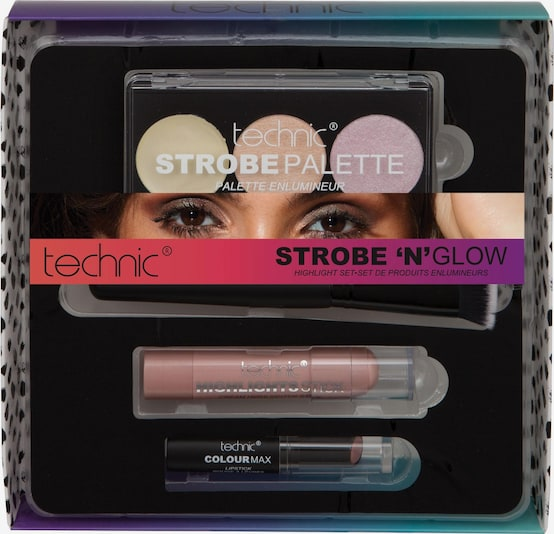 technic Make Up-Set 'Strobe 'n' Glow' in mischfarben, Produktansicht