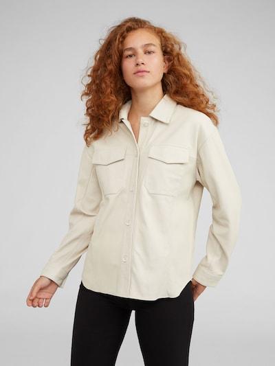 EDITED Ledershirt 'Jemie' in beige, Modelansicht