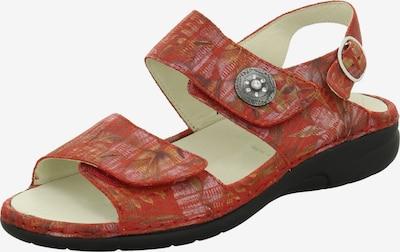 WALDLÄUFER Sandale in braun / oliv / pastellpink / pastellrot, Produktansicht
