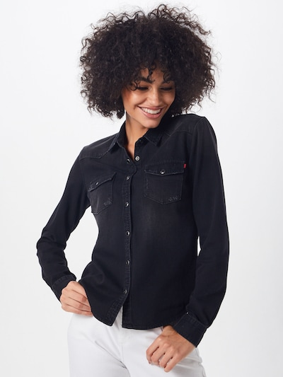 LTB Blouse 'Lucinda' in de kleur Black denim, Modelweergave