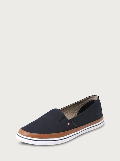 TOMMY HILFIGER Slip-on 'Kesha' in dark blue / brown / white, Item view