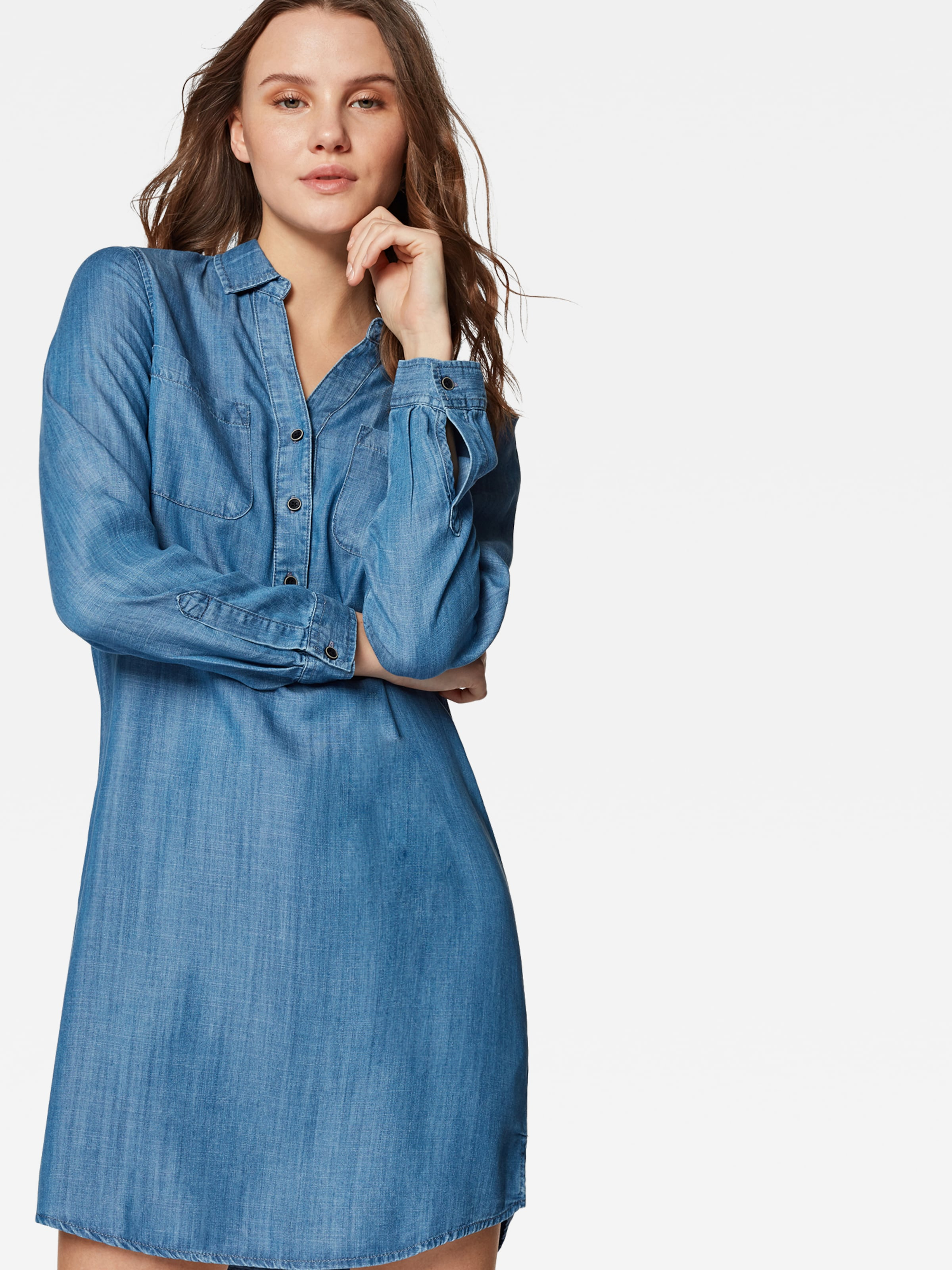'denim Dress' Bleu Denim En Robe Mavi chemise fgY76yb