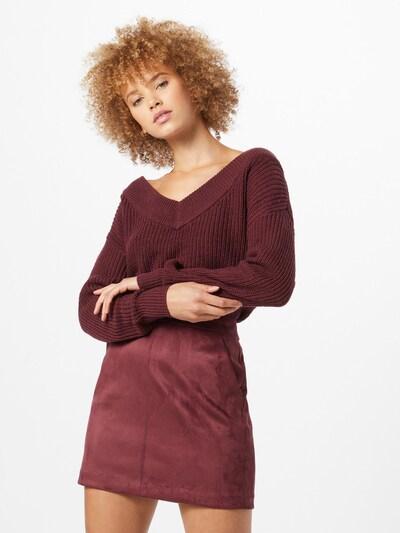 ONLY Pullover 'Melton' in rot, Modelansicht