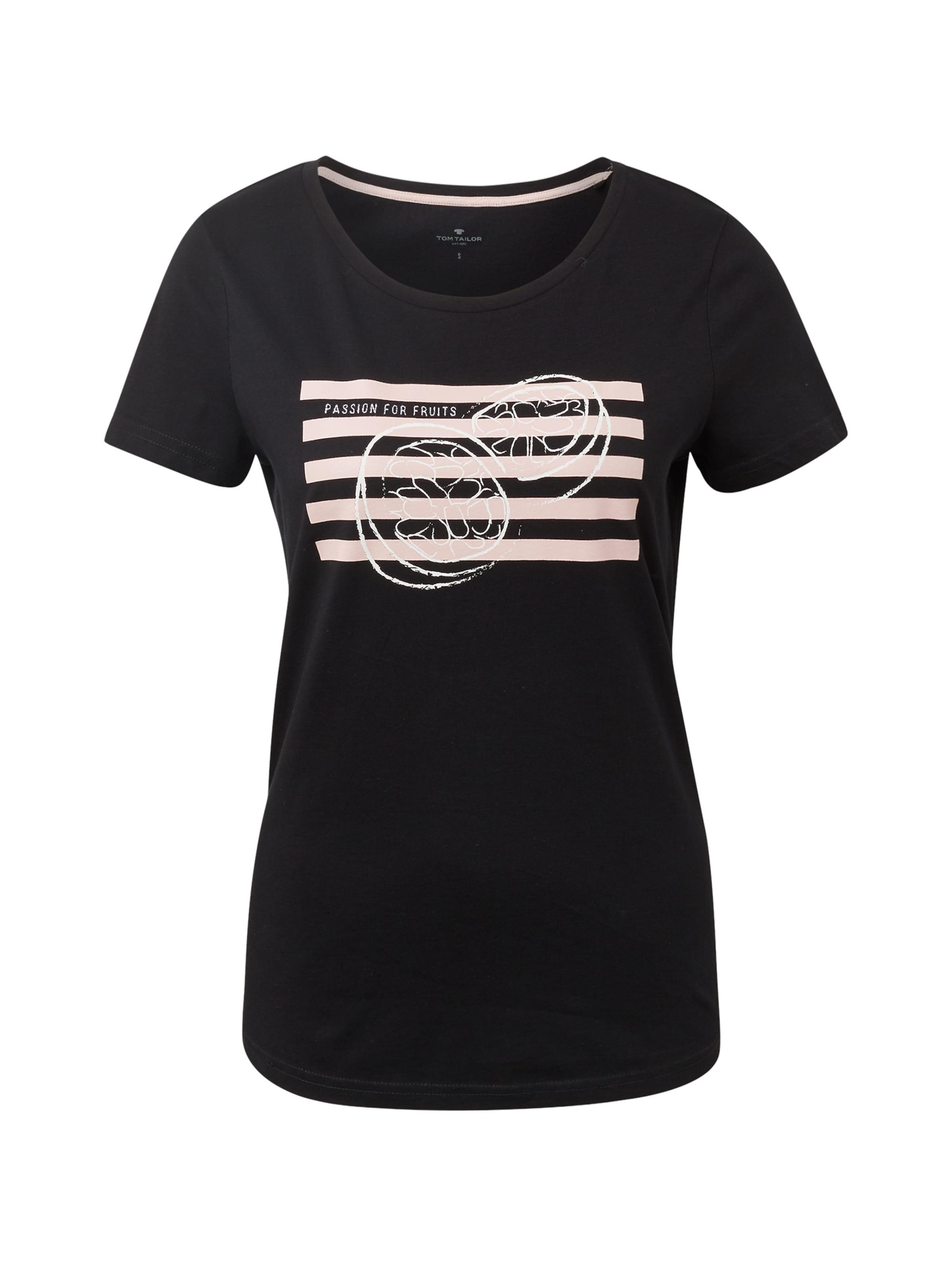 shirt In AltrosaSchwarz Weiß Tom T Tailor vgYbf76y