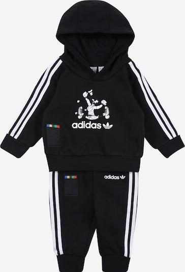 ADIDAS ORIGINALS Sportanzug 'Goofy' in schwarz / weiß, Produktansicht