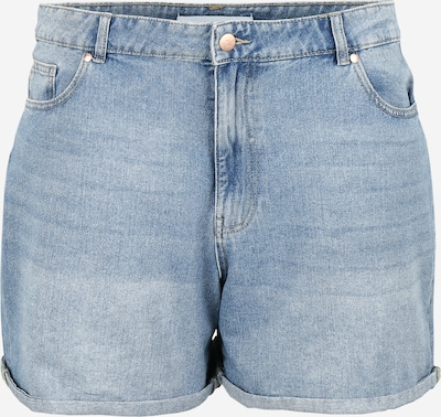 ONLY Carmakoma Jeans 'CARHINE REG SHORTS' in de kleur Blauw, Productweergave