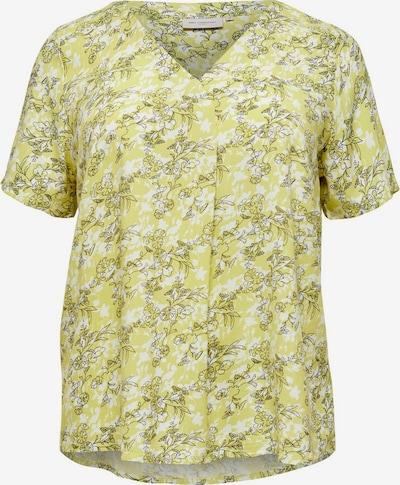 ONLY Carmakoma T-shirt en jaune / blanc, Vue avec produit