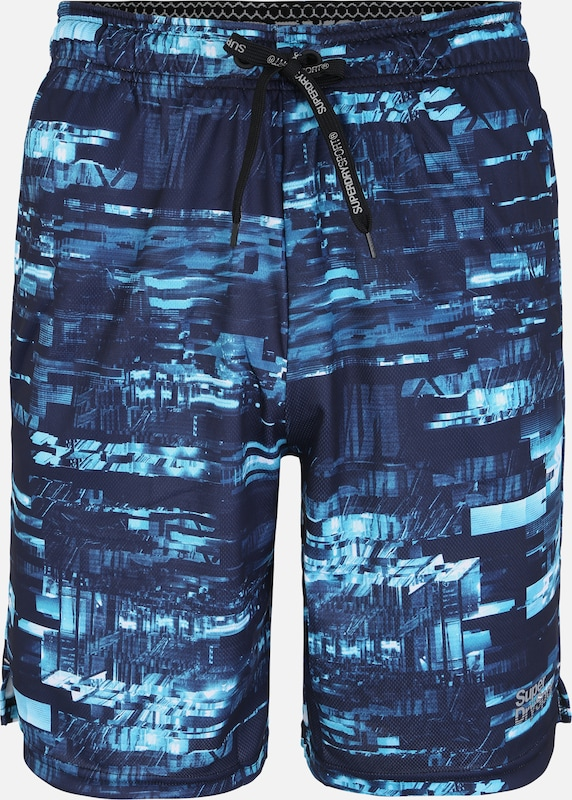 Superdry Shorts 'ACTIVE TRICOT' in navy / aqua, Produktansicht