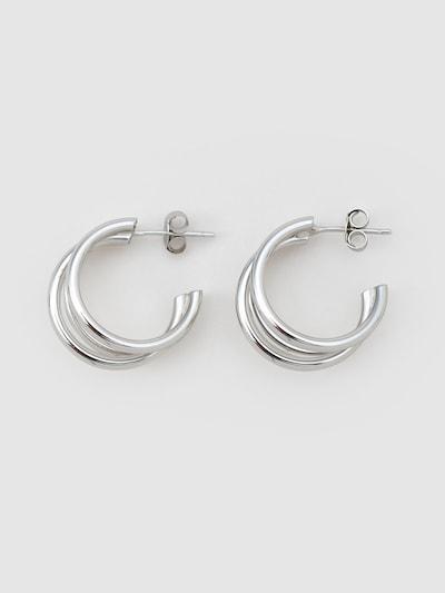 EDITED Earrings 'Veda' in Silver: Frontal view