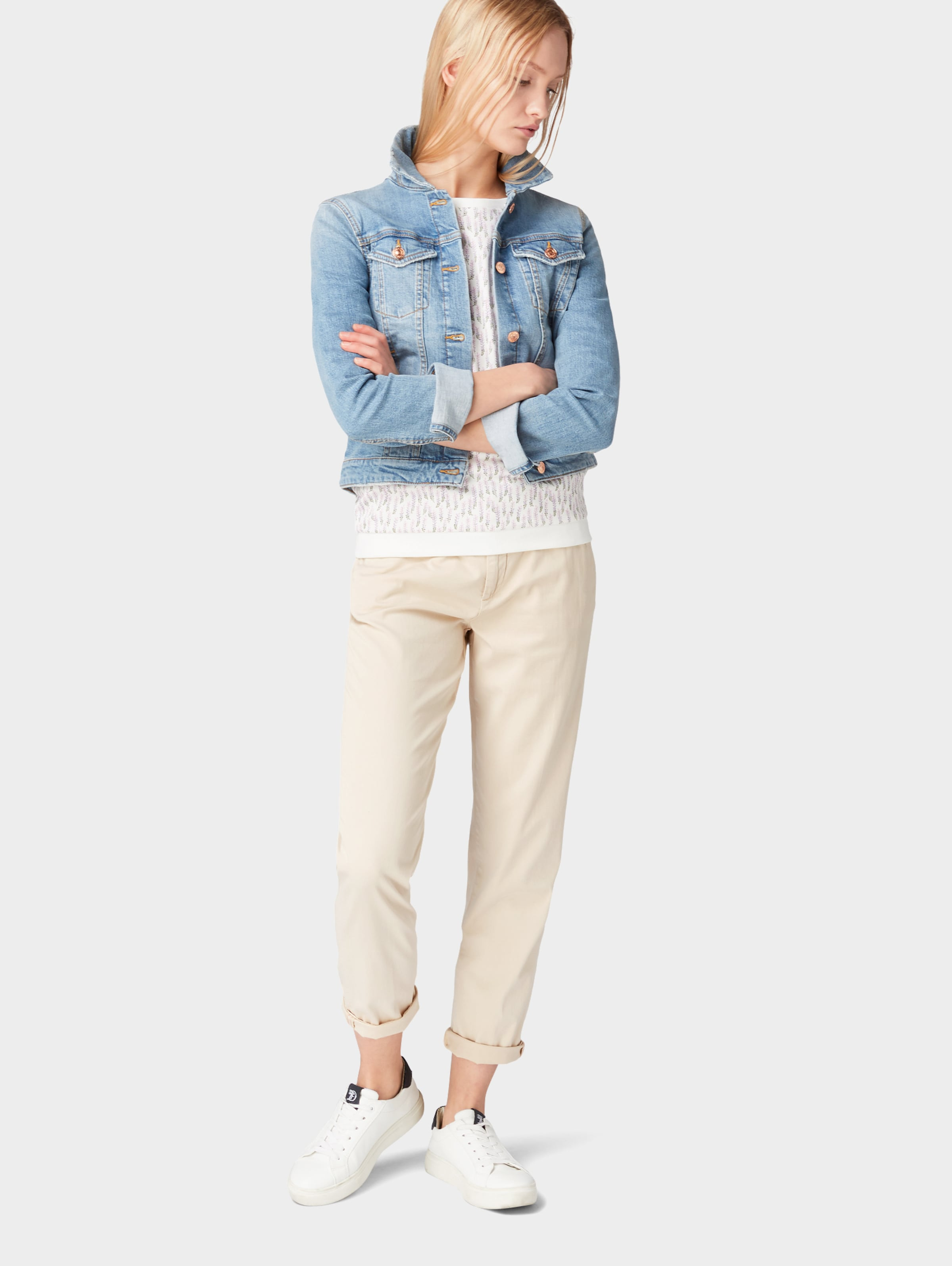 Denim In Tom RosaOffwhite Pullover Tailor J13KTlFc