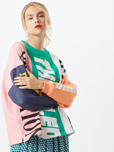 vegyes színek Essentiel Antwerp Tréning póló 'Wet Colourblock Sweater': Elölnézet