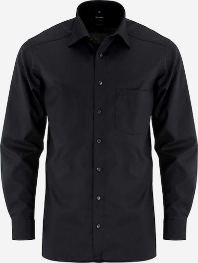 OLYMP Zakelijk overhemd 'Luxor' in de kleur Zwart, Productweergave