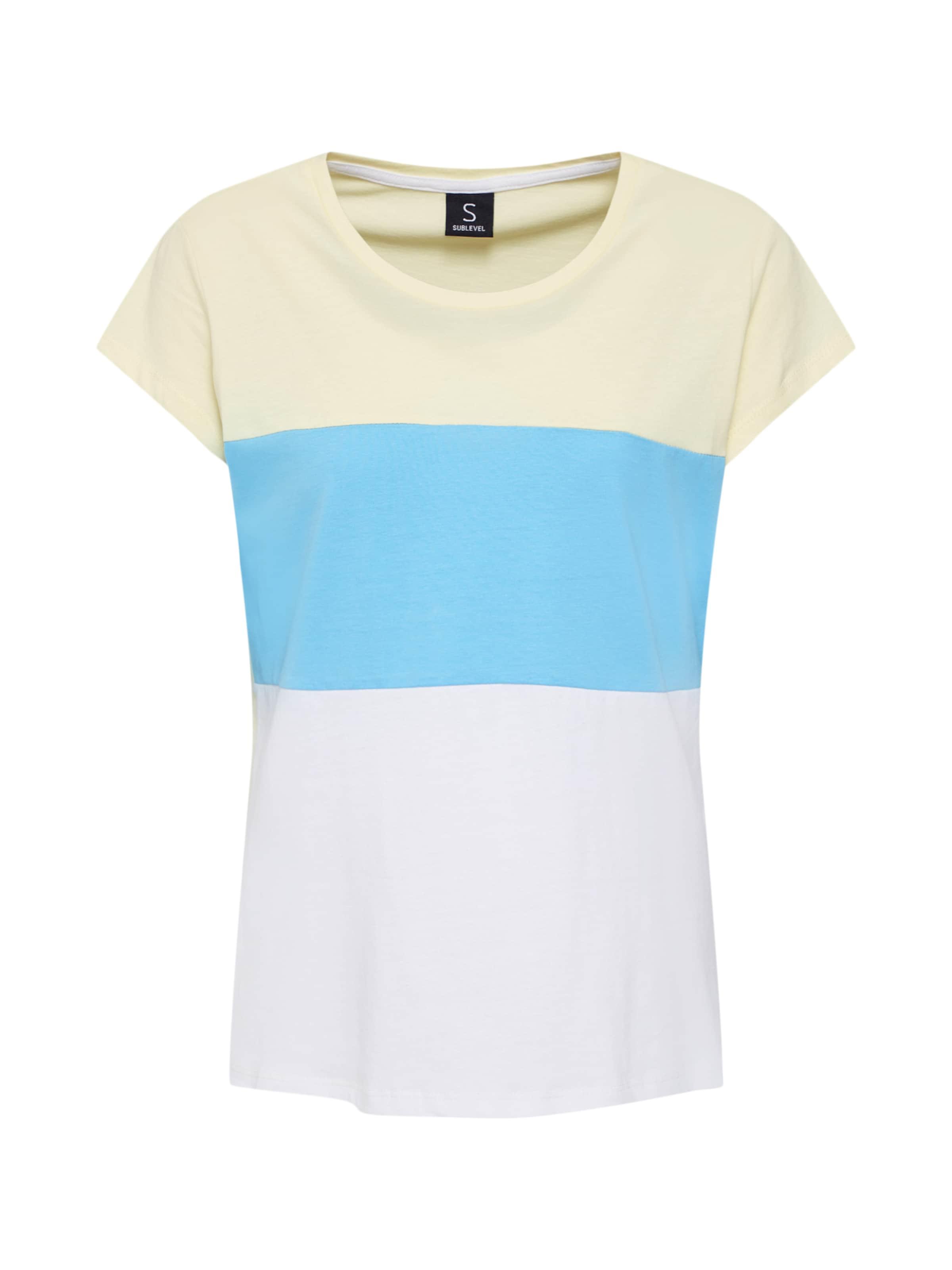 Sublevel shirt BleuJaune En T Blanc D9EIH2WY