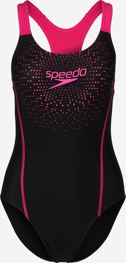 SPEEDO Badeanzug in pink / schwarz, Produktansicht
