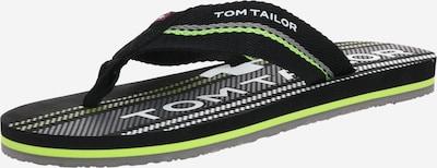 TOM TAILOR Séparateur d'orteils en citron vert / noir, Vue avec produit