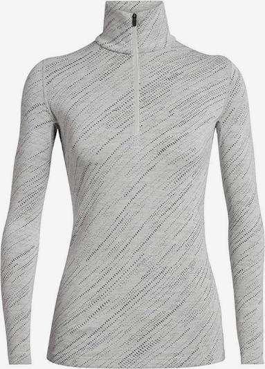 Icebreaker Shirt '250 Vertex LS Half Zip Snow Storm' in hellgrau / schwarz, Produktansicht